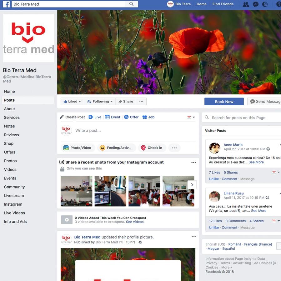 Bio Terra Med Facebook page